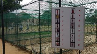 El cartel a la puerta del colegio St Joseph de Colombo, la capital de Sri Lanka.