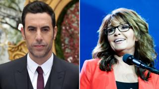 Sacha Baron Cohen and Sarah Palin