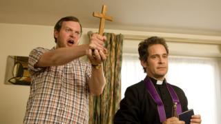 Miles Jupp and Tom Hollander in Rev