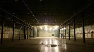The abandoned AT&T plant in Shreveport, Louisiana. The factory, which made landline and coin-operated telephones, closed in 2000