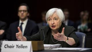 Janet Yellen, chair of the U.S. Federal Reserve, testifies at a congressional Joint Economic Committee hearing