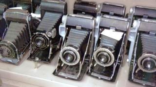 A selection of Jim's folding cameras