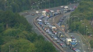 Delays on the A55 last year