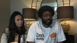 Zane Gbangbola's parents Nicole and Kye
