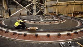 La construcción del tokamak de ITER, en Francia.