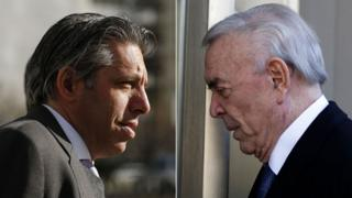 Aaron Davidson (L) and Jose Maria Marin, both accused in the Fifa corruption scandal