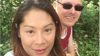 Rhodri Francis, pictured with wife Noi, were stranded in Thailand by coronavirus