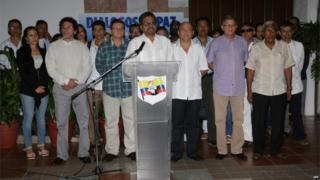 Farc delegation in Cuba, 8 July 2015