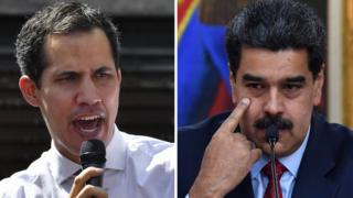 نيكولاس مادورو و خوان غوايدو