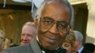 Robert Guillaume, who starred in the US sitcoms Soap and Benson arrives for the ABC television network's 50th anniversary in Hollywood, 16 March 2003