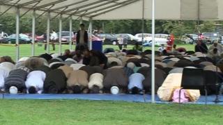 A previous outdoor Eid al-Fitr celebration