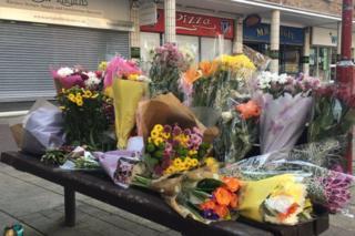 Flowers outside takeaway