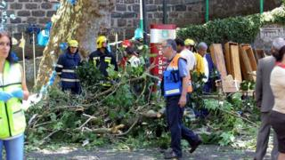 Rescuers in Funchal, 15 August