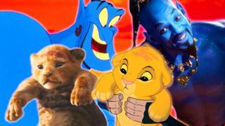 """Сімба і Джин з оригінальних мультфільмів і римейків """"Короля Льва"""" і """"Аладдіна"""""""