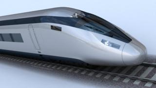 Artist impression of high speed train for HS2