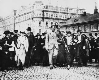 Маннергейм у Швеції, 1918