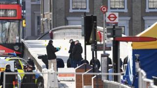 Investigators on London Bridge