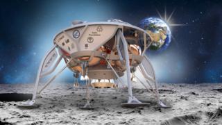 Artist's impression of lander