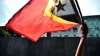 East Timor protestors outside the Australian Embassy in Indonesia