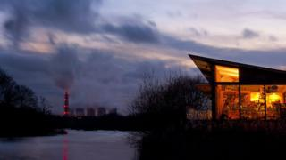 Attenborough Nature Reserve and power station