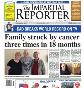 Front page of The Impartial Reporter