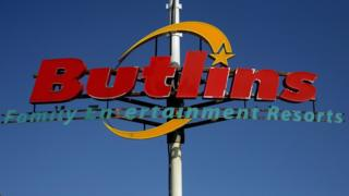 A Butlin's holiday camp sign