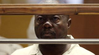 "Lonnie David Franklin Jr. appears for an arraignment on multiple charges as the alleged ""Grim Sleeper"" killer in Los Angeles Superior Court."