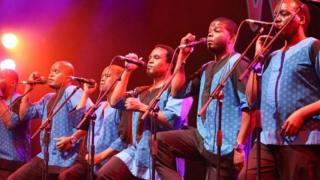 Ladysmith Black Mambazo performing at WOMAD in 2017