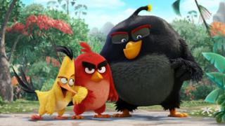 A scene from Angry Birds