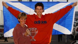 Andy Murray with Mum Judy