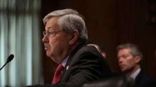 布兰斯塔德在美国参议院外交委员会参加听证。
