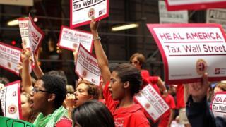 Protesta contra la desigualdad