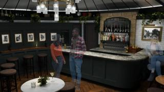 Artist's impression of the new bar