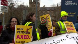 Protest at UU Magee