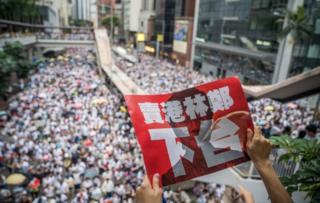Protestas de Hong Kong.