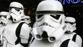 Star Wars Stormtroopers on show in London, 16 May 2005
