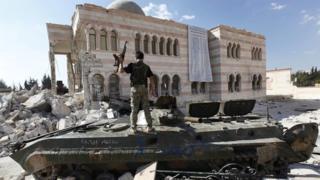 Tank in Syrian civil war