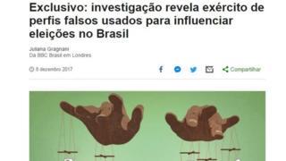 Reportagem da BBC News Brasil premiada