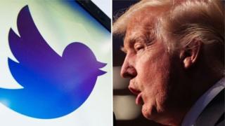 Trump iyo calaamadda Twitter-ka