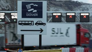 Lorry at the Port of Dover