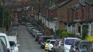 Bin in a street in Sheffield