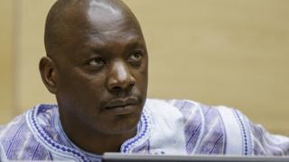 Thomas Lubanga, attendant le verdict de son procès pour crimes de guerre devant la CPI à La Haye, au Pays-Bas le 1er décembre 2014.