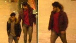 CCTV images of men being sought