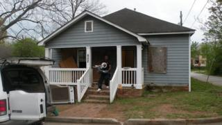 House in Clayton county - boarded up