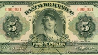 Bilhete de 5 pesos do Banco do México de 1925