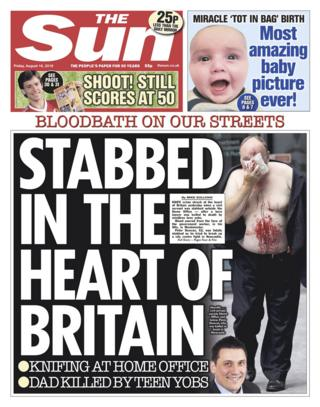 The Sun front page