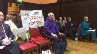 Campaigners at East Area Planning Committee meeting