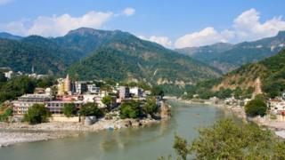 The river Ganges at Rishikesh