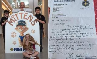 Mittens ins unveiled and letter from Mike Barton to Eliza