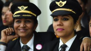 Indian women pilots from Air India